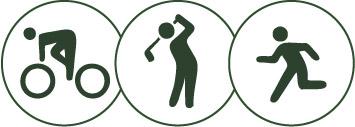 ゴルフトライアスロンのアイコン